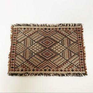 Set of four vintage boho woven placemats